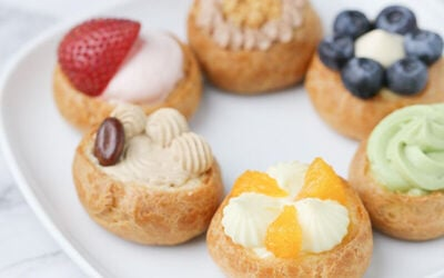 Mini Tarts, Cupcakes and Cream Puffs Dessert Package