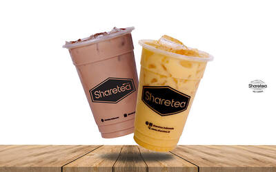 Iced Nutella Latte (Medium) + Mango Milktea (Medium)