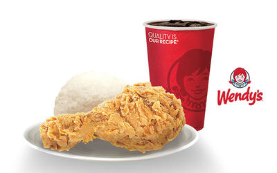 Wendy's Combo 1 pc Fried Chicken + Rice + Medium Drink - Voucher Berlaku Mulai Tanggal 22 November 2018