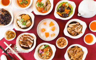 All You Can Eat Teochew Porridge Supper Buffet with Free-Flow Chinese Tea for 1 Person