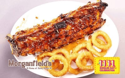 [11.11] Morganfield's Signature Pork Baby Back Ribs with Two (2) Sides