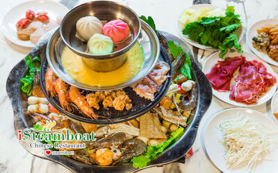 (Fri - Sun, PH, Eve of PH) 4-Tier Pagoda Hotpot and BBQ Buffet for 1 Person