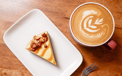 Genting Premium Outlet: Two (2) Cups of Cappuccino / Latte and One (1) Cake Slice