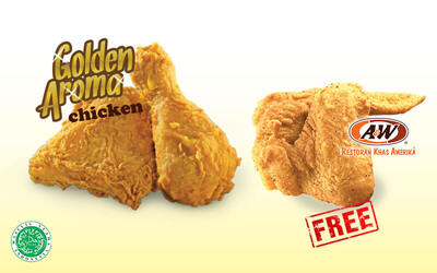 Buy 2 Get 1 Free for Golden Aroma® Chicken