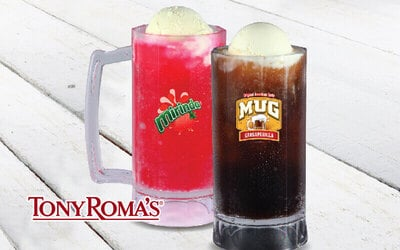 Tony Roma's: One (1) MUG Sarsaparilla / Strawberry Float for 1 Person