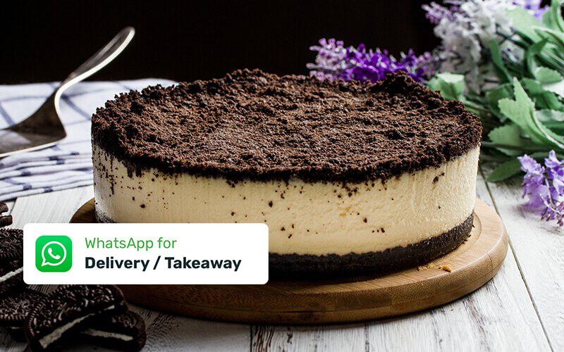 "(Takeaway) One (1) 7"" The Modern Duke's Pudding Oreo Cheesecake"