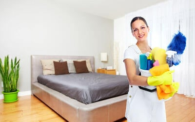 House Cleaning with Bed and Desk Chair Cleaning (Door-to-Door)