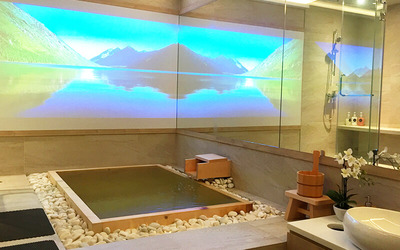 Private Koyamaki Onsen Therapy with Foot Detox Therapy + Private Lounge for 1 Person