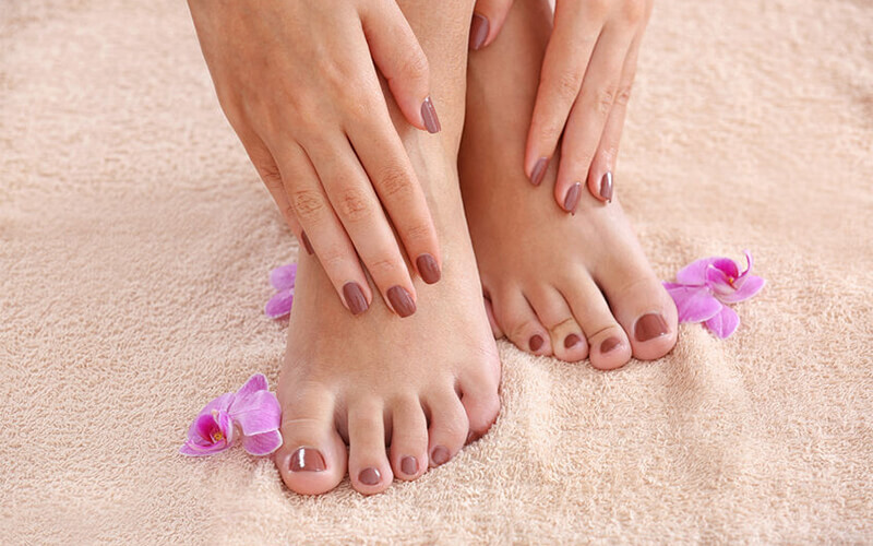 Manicure + Pedicure + Gel Nail Polish + Light Massage & Scrub