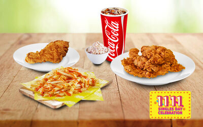 [11.11] Korean Fried Chicken Set with Drink for 1 Person