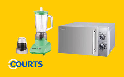 Courts Bundle Package: SHARP Blender with SHARP Microwave Oven