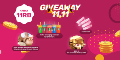 #Fave11.11 Giveaway (2019)