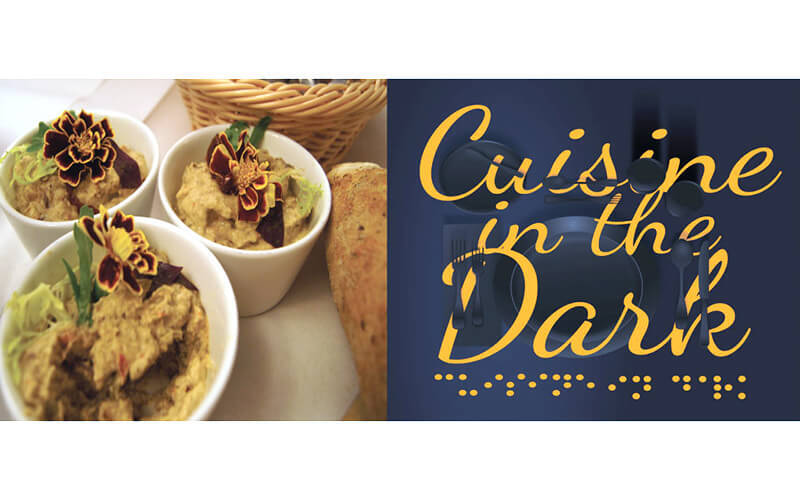 Dialogue in the Dark: 1.5-Hour 'Cuisine in the Dark' Dining Experience with 3-Course Western Meal and Experiential Tour for 2 People