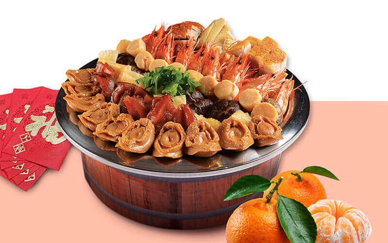 [CNY] Prosperous Treasure Pot Pen Cai with Abalone and Oysters (富贵盆菜) for 10 People