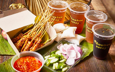 Satay Combo with Drinks for 5 - 6 People (Big Gang)