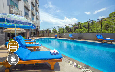 (Without Perks) Nagoya Mansion Batam: 2D1N Stay in Deluxe Room with Return Ferry + City Tour for 1 Person
