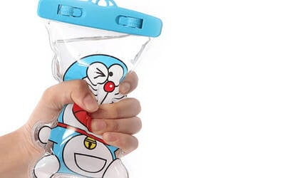 One (1) Cartoon Mobile Waterproof Pouch