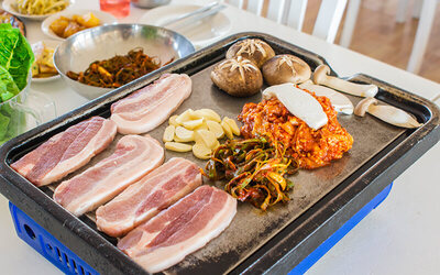 Korean BBQ Set Meal with Drinks for 4 People