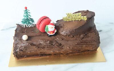 [Y.E.S] One (1) 500g Chocolate Cherry Log Cake