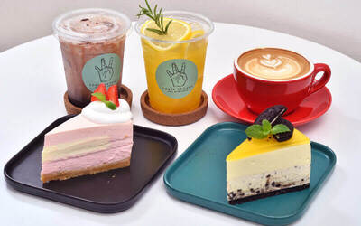 Cake and Drink for 1 Person