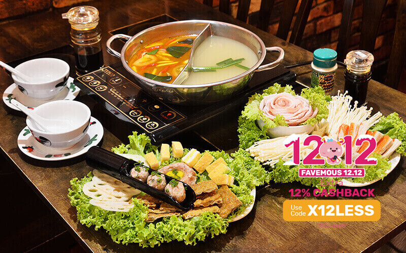 [12.12] Pork and Seafood Steamboat Set for 2 - 3 People