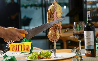 Churrascaria Dinner Buffet with Free Flow of Soft Drinks for 2 People