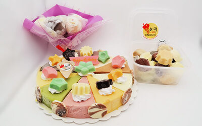 10-in-1 Ice-Cream Cake with Five (5) Sticks of Ice-Cream Lollipops + 20 Pieces of Ice-Cream Candy Boxes