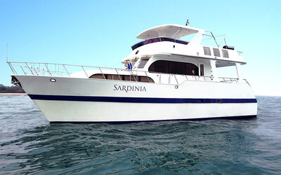 (Fri - Sun) 4-Hour Sardinia Yacht Charter for up to 18 People