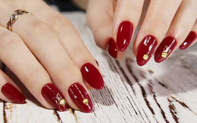 Gel Manicure with Two (2) Nail Arts and Classic Pedicure with Foot Scrub for 1 Person