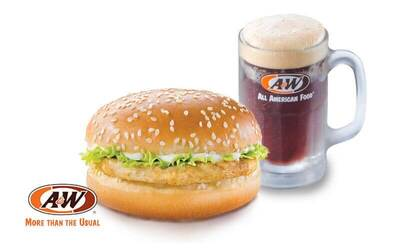 A&W: Grilled Chicken Burger and RB for 1 Person