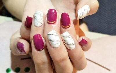 Express Gel Manicure + Two (2) Nail Art for 1 Person