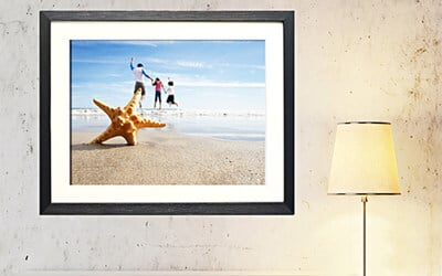 12R Photo Print with Single Mounted Frame