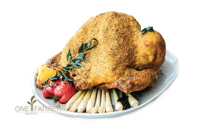 One Farrer Hotel: 6kg Turmeric Marinated Turkey with Crusted Curry Coconut