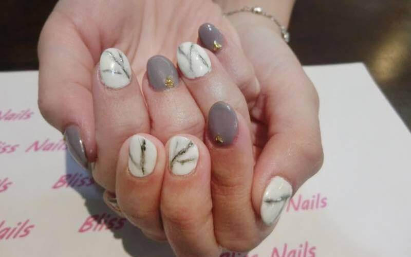 Gel Manicure with Nail Art (Marble / Dry Flower) for 1 Person