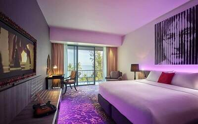 Penang: 4D3N Stay in Deluxe Seaview Room with Balcony for 2 People + One (1) Limited Edition Hard Rock Hotel Penang Record