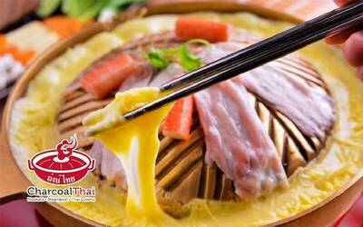 Rich Cheese/King Durian/Wintermelon Steamboat Mookata Dinner Set for 2 People