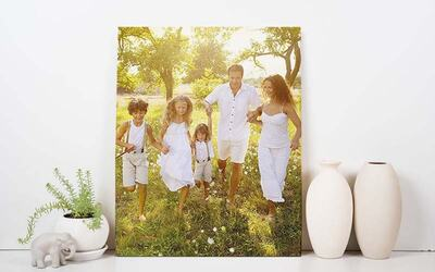 "Six (6) 8"" x 10"" Personalised Portrait/Landscape Canvas Print"