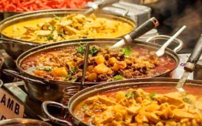 Authentic Indian Lunch Buffet with Free Flow Drinks for 1 Person