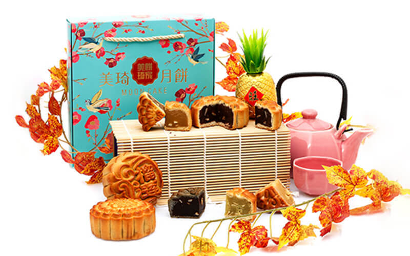Four (4) Pieces of Regular Size Bake Mooncakes with Delivery and Takeaway