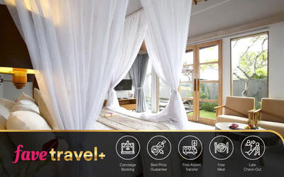 [FAVE Travel+] Ubud: 6D5N in 1 BR Pool Villa + Breakfast + Airport Transfer + Lunch / Dinner
