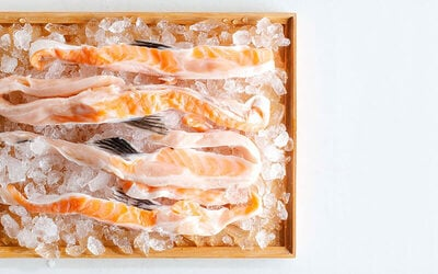 Four (4) 500g Packs of Salmon Belly Fat