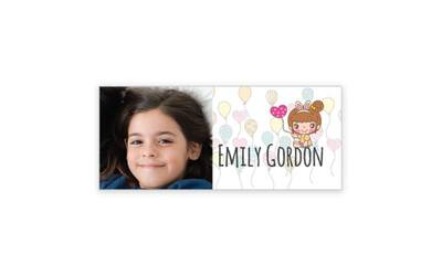 234 Pieces of Personalized Rectangle Sticker (30mm x 13mm) for 1 Person