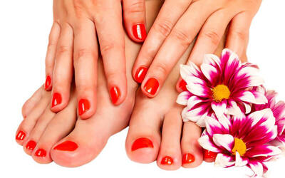 Spa Manicure and Classic Pedicure for 1 Person