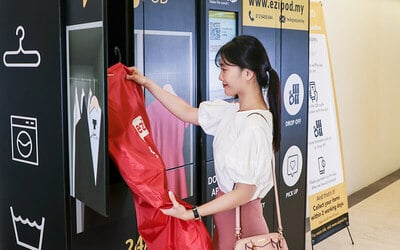 RM100 Credit for eziPOD Laundry Services