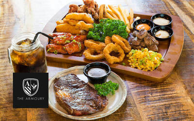 (Sat - Sun) Steak and Ribs Buffet for 2 Adults