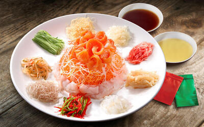 [CNY] Salmon Yee Sang for 10 People