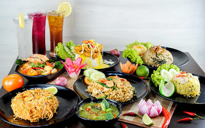 Thai Set Meal with Drink for 1 Person