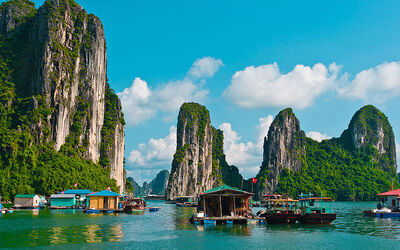 Halong Bay: 7D6N Stay in Hanoi Sky Hotel with 3.5* V'Spirit Cruise for 1 Person