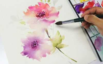 2-Hour Watercolour Art Class for 1 Adult (1 Session)