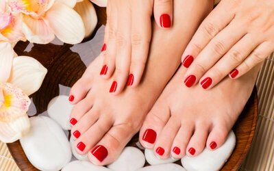 Manicure + Pedicure + 10 Finger Gel Polish (Hand)